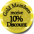 Offering Gold Members a 10% Discount!